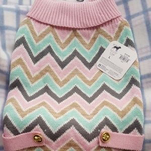 NWT dog sweater size large